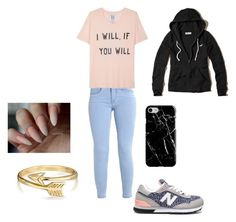"""Untitled #64"" by lillayna on Polyvore featuring New Balance, Zoe Karssen, Hollister Co., Recover and Bling Jewelry"