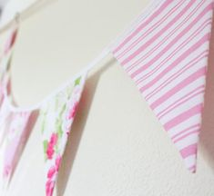 Pretty In Pink floral bunting. Stunning bunting made from high quality pink and white floral fabrics. 14 double sided flags each measuring sewn into white bias binding. Bedroom Bunting, Pink Bunting, Girl Decor, Pink Candy, Birthday Gifts For Her, Floral Fabric, Girls Bedroom, Pretty In Pink, Flags