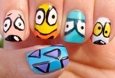 awesome Our Favorite '90s Nickelodeon Cartoons Transformed Into Nail Art!
