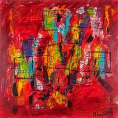 Abstract Colors I 100x100 cm 2.999 dkk - Art by Lønfeldt - Art original acrylic abstract paintings