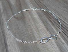 Anklet Bracelet Infinity Anklet Infinity Bracelet by DonnaJJewelry