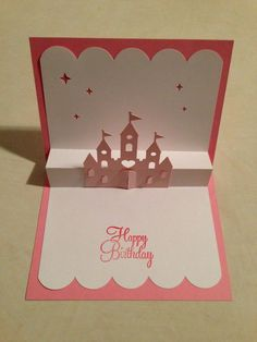 Pop up Birthday card...Castle