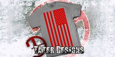 Solid American Flag Shirt by TaterDesigns on Etsy