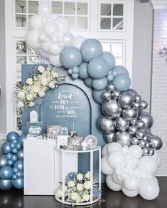 Dinner Party Decorations, Birthday Balloon Decorations, Balloon Centerpieces, Birthday Balloons, Birthday Parties, Balloon Gift, Balloon Garland, Baby Showe Ideas, Unique Baby Shower Themes