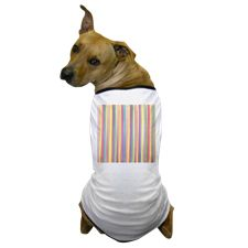 Watercolor Stripes Dog T-Shirt