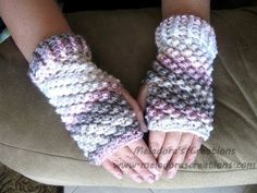 Raspberry Stitch Finger less Gloves - Crochet Tutorial (Crunch Stitch) - YouTube