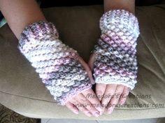 Raspberry Stitch Finger less Gloves - Crochet Tutorial