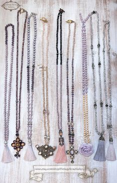 Dusty Pink Silk Tassel Necklace, Pink Black Tassel Necklace, Statement Necklace, Boho Chic Necklace by VintageRoseGallery Tassel Jewelry, Etsy Jewelry, Jewelry Crafts, Tassel Necklace, Jewellery, Jewelry Ideas, Necklaces, Pink Silk, Blush Pink