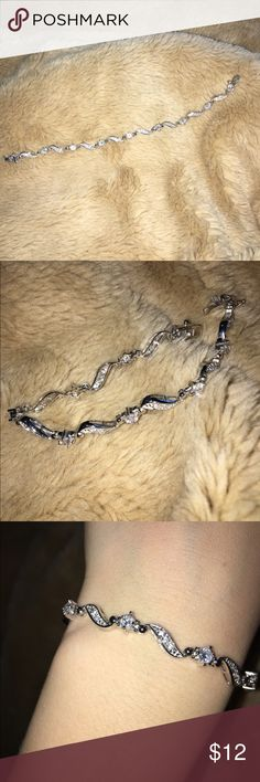 Sterling silver bracelet oval loop chain for Jared jewelry the loop
