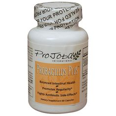"""PROJOBA PROBACILLUS PLUS™ - 60 CAPSULES specifically formulated to establish natural intestinal balance and promote healthy digestion and regularity. These """"friendly bacteria"""", 4 billion strong, promote a healthy intestinal balance, which can become degraded by candida, travel, and the effects of aging. Item No:PJ435"""