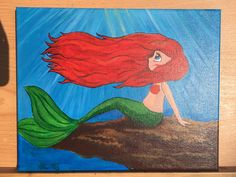#Mermaid #Sirene #Meerjungfrau #Acrylfarbe #Leinwand #Painting #Drawing #Zeichnung #Art #canvas #canvasart Grinch, Illustration, Disney Characters, Fictional Characters, Drawing, Disney Princess, Art, Mermaids, Sirens