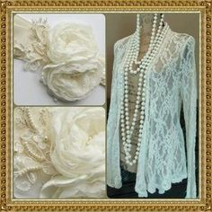 MISS CHIEVOUS Jackets & Blazers - ❤HOST PICK❤Lovely little off white lacey cardigan
