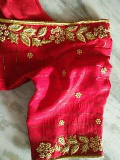 Simple Embroidery Designs, Simple Blouse Designs, Embroidery Suits Design, Dress Neck Designs, Bridal Blouse Designs, Saree Blouse Designs, Maggam Work Designs, Designer Blouse Patterns, Blouse Models