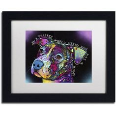 Trademark Fine Art In a Perfect World Canvas Art by Dean Russo, White Matte, Black Frame, Size: 16 x 20