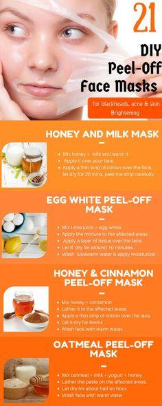 21 Peel Off Face Masks #homemadefacemaskspeel
