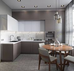 Cucina color tortora 26 interior kitchen white cabinets Cucina Color Tortora: 33 Idee per Arredi e Abbinamenti Modern Kitchen Interiors, Kitchen Layout, New Kitchen, Kitchen Designs Layout, Kitchen Decor, Backsplash For White Cabinets, Contemporary Kitchen, Kitchen Remodel, Kitchen Design