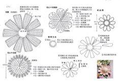 Delicadezas en crochet Gabriela: Flor de ganchillo