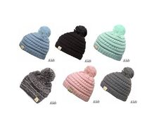 4c6f8b3362e33 Monogrammed Pom Pom CC Beanie - Kids Size - Embroidered Name or Initials