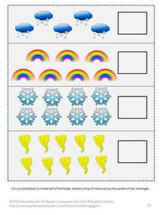 Our Weather File Folder Games-Pre-K, K, and Special Education packet has 29 pages and contains 6 printable file folder games. This packet will help the student learn about the different types of weather. Our Weather File Folder Games can be used as a part of a Thematic Unit to teach the student how the weather affects our everyday life.