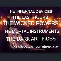 Shadowhunter chronicles <----or simply Cassie Clare books like The Bane Chronicles