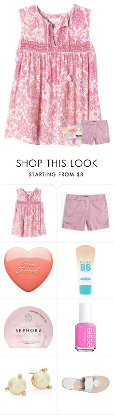 """you wanna find love & you know where the city is"" by madelinelurene ❤ liked on Polyvore featuring Rebecca Taylor, J.Crew, Maybelline, Sephora Collection, Essie, Kate Spade and Jack Rogers"