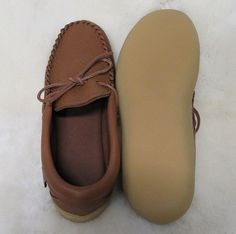 8ae74f474b4 Men s Elk hide driving moccasin with rubber sole