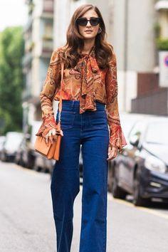der instyle denim guide die heissesten jeans looks der streetstyle stars 70er modemode fur frauen70er jahre