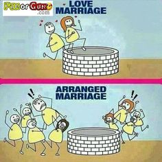 Checkout for Love Marriage Vs Arranged Marriage..!! where Funny Pictures Makes…