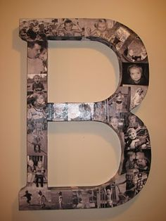 DIY: Family Monogram Photo Collage. Could be good for wedding/family pictures