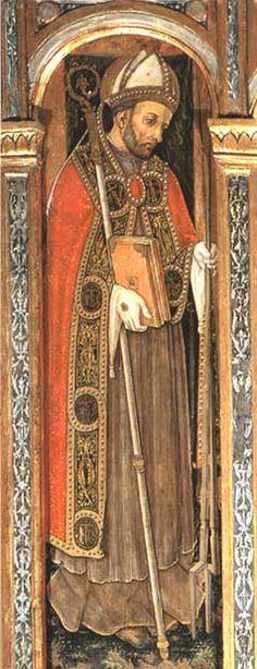 """Vittore Crivelli - Trittico di Cupra """"San Basso"""", dettaglio - Cupramarittima, Chiesa parrocchiale di San Basso"""