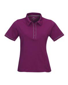 Womens 100% Polyester Pique Polo Shirt. Tri mountain 056