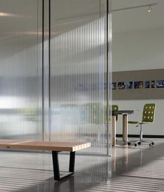This photo captures the translucence and texture of interior polycarbonate walls!: