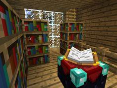 #Minecraft : la nouvelle bibliothèque municipale du village de l'Espace Cyber-base de Nancy réalisée le 27 février 2013