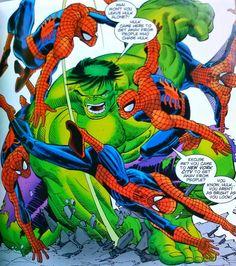 Spider-Man battles the Hulk by John Romita Jr.