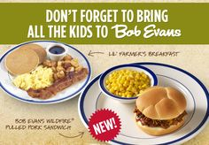 BOB EVANS $$ Reminder: Coupon for BOGO FREE Kid's Meal – Expires TODAY (5/21)!