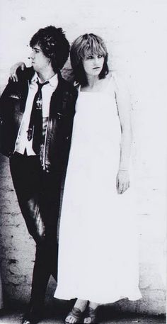 Viv Albertine and Mick Jones photographed by Jane Ashley, 1976.