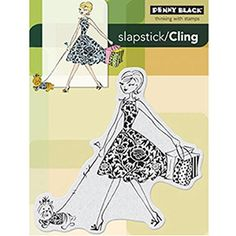 "Penny Black Cling Rubber Stamp 4""X5.25""-Fashion Leader"