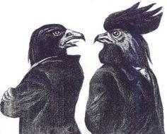 Aigle et coq