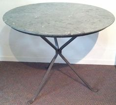 Green Marble Round Table