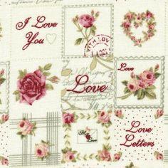 "Kollektion:     ""Rosie`s Love Letters""    Designer:        STOF"