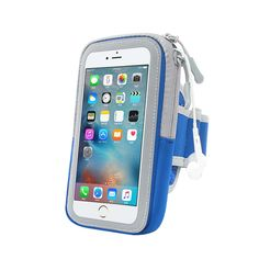Waterproof fabric and PVC outdoor exercise arm belt mobile phone bags cases breathable perspiration case cover for iphone 7 case