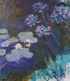 Claude Monet - Nenúfares en Giverny #5 ( y Agapanthus)