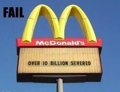 It's the biggest tragedy in fast food history.