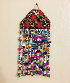 Nazarlık, nazar, nazar boncuğu, pazen, tasarım, el emeği, design, amulet, hamd made, ig:_esencan Turkish Eye, Evil Eye, Mobiles, Sprinkles, Embroidery Designs, Elsa, Kids, Handmade, Feltro