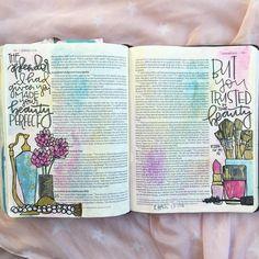 Bible Journaling by My Bible, Bible Art, Scripture Verses, Scripture Journal, Art Journaling, Scriptures, Beautiful Words, Ezekiel Bible, Life Quotes Love