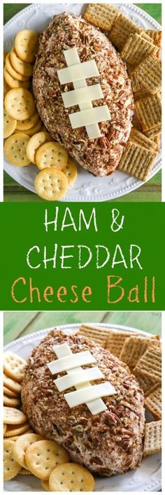 Ham and Cheese Football - only 6 ingredients. Great for the big football game…