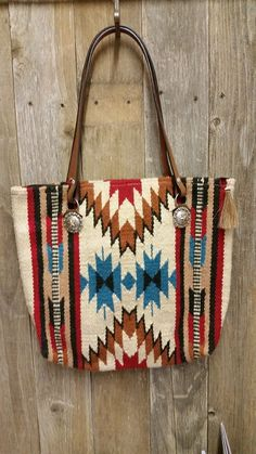 5c3d057c551 206 Saddle blanket bag, Red, turquoise, cream. Angela Guglielmelli · Purses  handbags