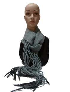 Unisex  feted scarf, handmade, unique  and  warm, soft  and  trendy