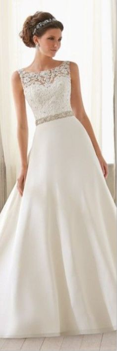 top lace wedding dress