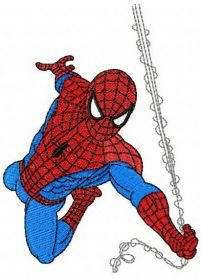Spiderman rushes to rescue machine embroidery design. Machine embroidery design. www.embroideres.com